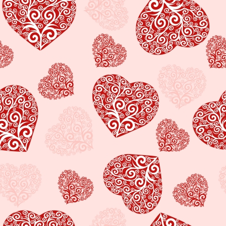 seamless hearts pattern. Stock Vector - 14085854