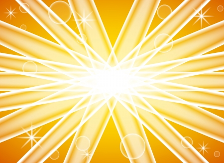 illustration of an abstract yellow background with sun splash