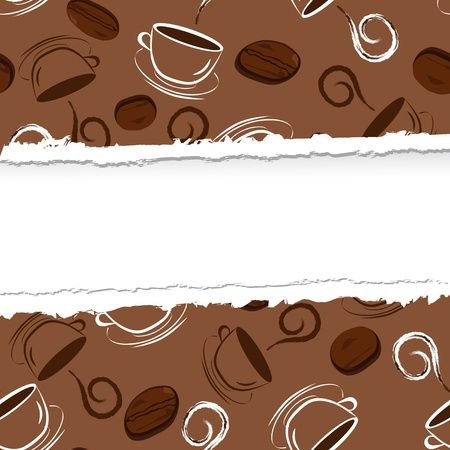illustration of a seamless coffee pattern Vector