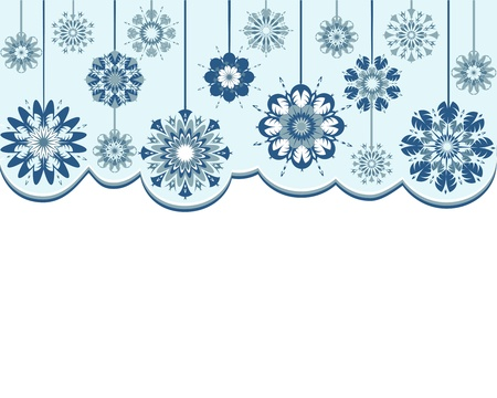 Vector illustration of an abstract snowflakes background