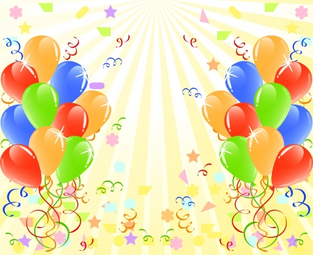 shiny background: vector illustration of a bunch of balloons  with space for text. Illustration
