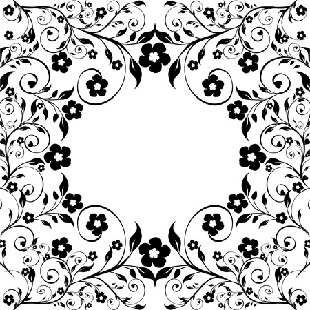 vector illustration of a floral ornament on white background Ilustracja