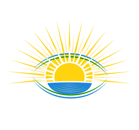 Vector Illustration of sunshine. can be used as a logo for a travel company