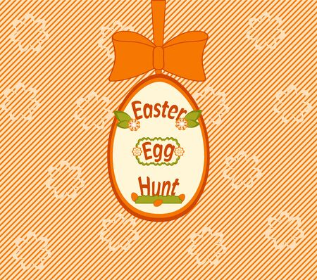 Easter egg hunt card on stripe
