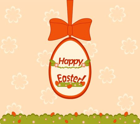 Easter egg hunt card on floral