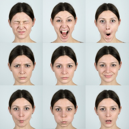 Las expresiones faciales photo