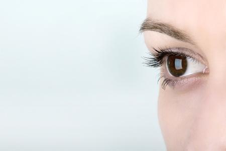 Vrouw oog Stockfoto