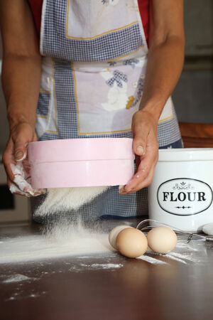 sieve: Sieve flour Stock Photo