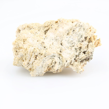 White lava rock from volcano on a white background Stock Photo