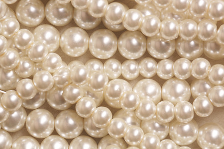 Pile of pearl on the white background Foto de archivo