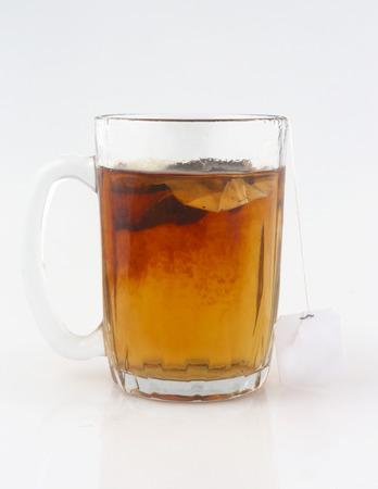 tea bag: Cup of tea with tea bag
