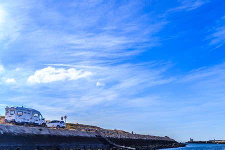 fullframes: Southern Algarve coast blue sky Editorial