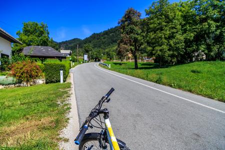 road cycling: Slovenia Brad country road cycling