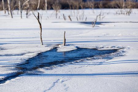 inner mongolia: Inner Mongolia Bashang snow scenery Stock Photo