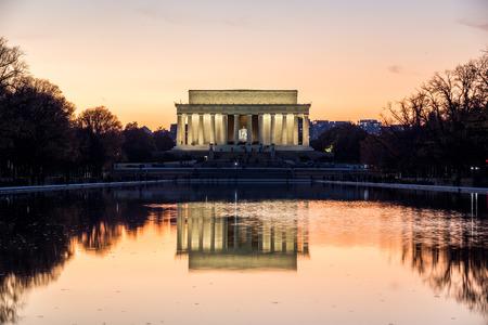 Nightscape of Lincoln Memorial in Washington, D.C.