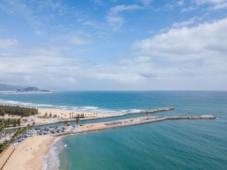 Aerial view of Sanya demarcation Island Stock Photo