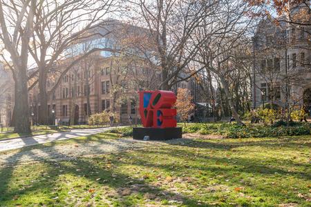 Boston University of Pennsylvania LOVE Statue Editorial