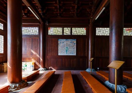 Buddhist prayer mat in Xiamen Shifengyan Temple