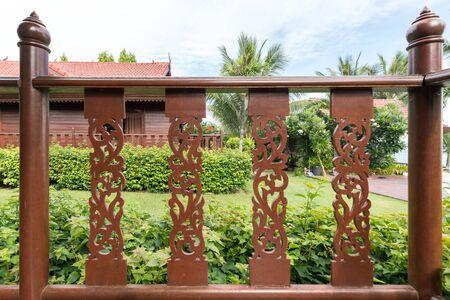 Thai style wooden railing, Thai style