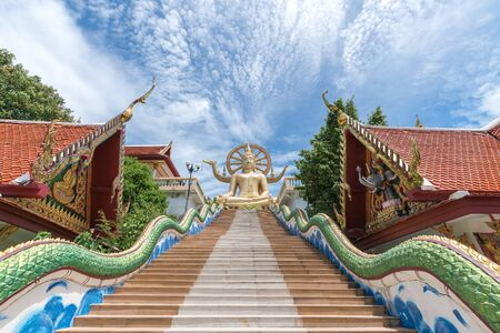 Giant Buddha statue at the Big Buddha Temple in Samui, Thailand