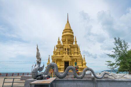 Traditional religious temple stupa, Samui, Thailand