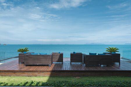 Thailand Samui Island beach sofa view