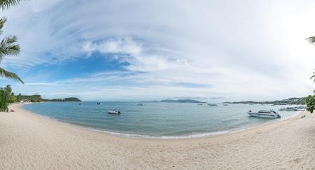 Panorama of Bophut Beach, Koh Samui, Thailand