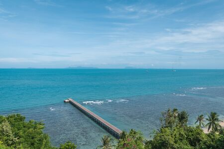 Natural scenery of the seaside in Koh Samui, Thailand