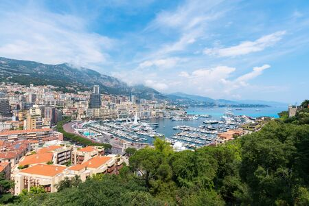 Monaco city scenery, Monte Carlo and Monaco harbour scenery Banco de Imagens - 127103515