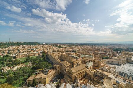 Aerial view of the Vatican City in a sunny morning, Rome, Italy