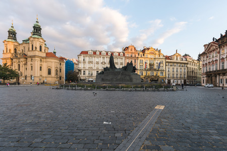 Sunrise at Prague Old Town Square and the City Skyline, Czech Republic