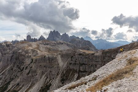 Mountain scenery and Landscapes in the Three Peaks Area of ??the Dolomites, South Tyrol, Italy Banco de Imagens