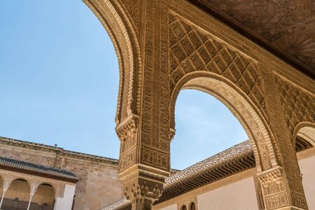 Arabic style architecture, building and landscapes in Alhambra