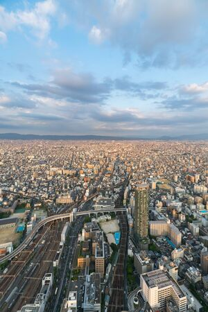 Cityscapes of the skyline in Osaka, Japan 版權商用圖片