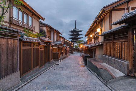 Ninenzaka and Sannenzaka ancient street view, Yasakanoto morning landscapes