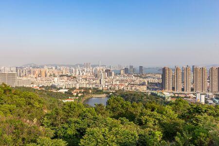 Urban skyline of Haicang District in Xiamen, China