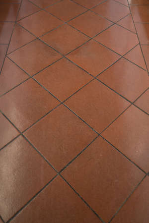 Red tile floor background 版權商用圖片