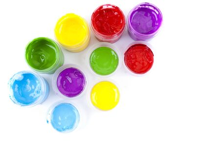 multicolored paint in open banks Stock Photo - 18225532