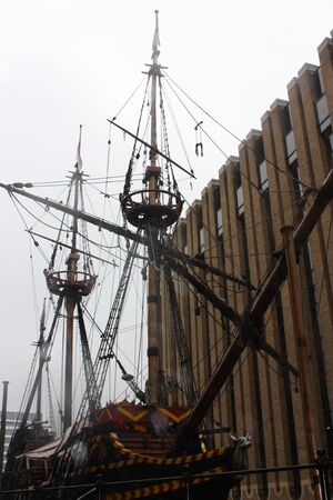 The Golden Hind Galleon Ship in London