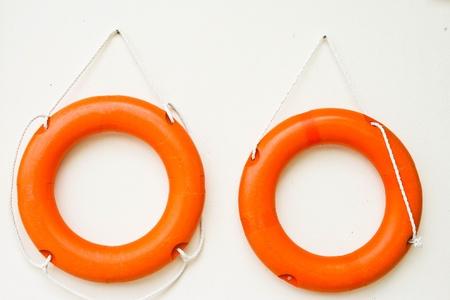the twin orange swimming tool photo