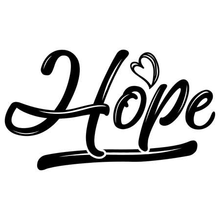 hope quotes, positive design, vector illustration