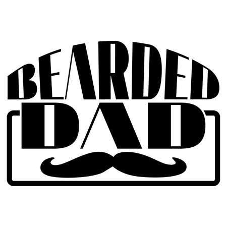 bearded dad, funny dad, bearded dad bod, bearded vector illustration Vetores