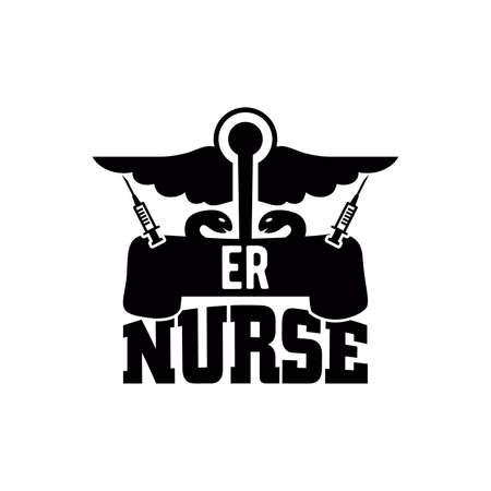 er nurse, awesome nurse design, family nurse saying, motivational and inspirational quotes, vector illustration