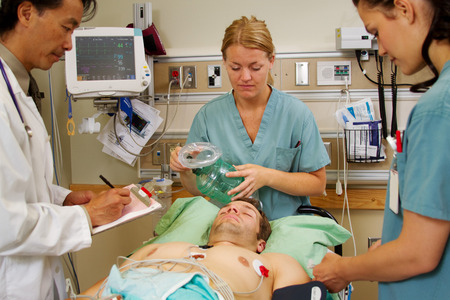 Patient in Emergency being assessed