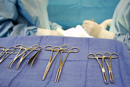 Surgical instruments required for an operation