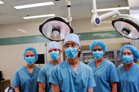 Health professionals ready for surgery