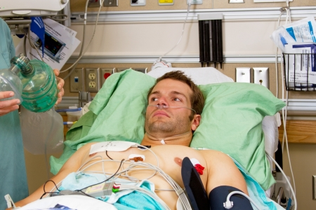 emergency room: Ill patient in Emergency Room Stock Photo