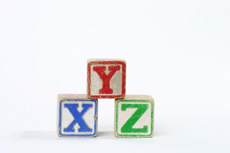 children s blocks  xyz  Stock Photo