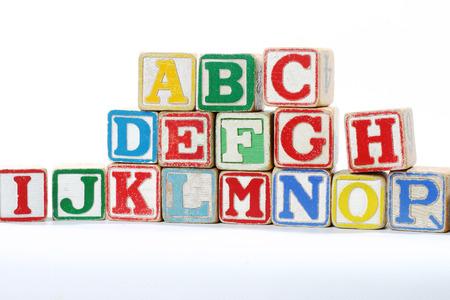 Children s lettered blocks