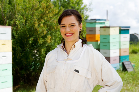Profile of a Happy female Beekeeper